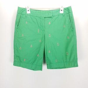 J Crew Green Anchor Broken In Chino Shorts